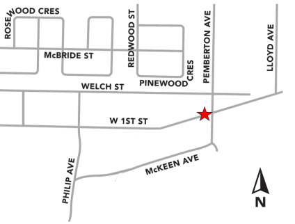 West 1st and Pemberton Median