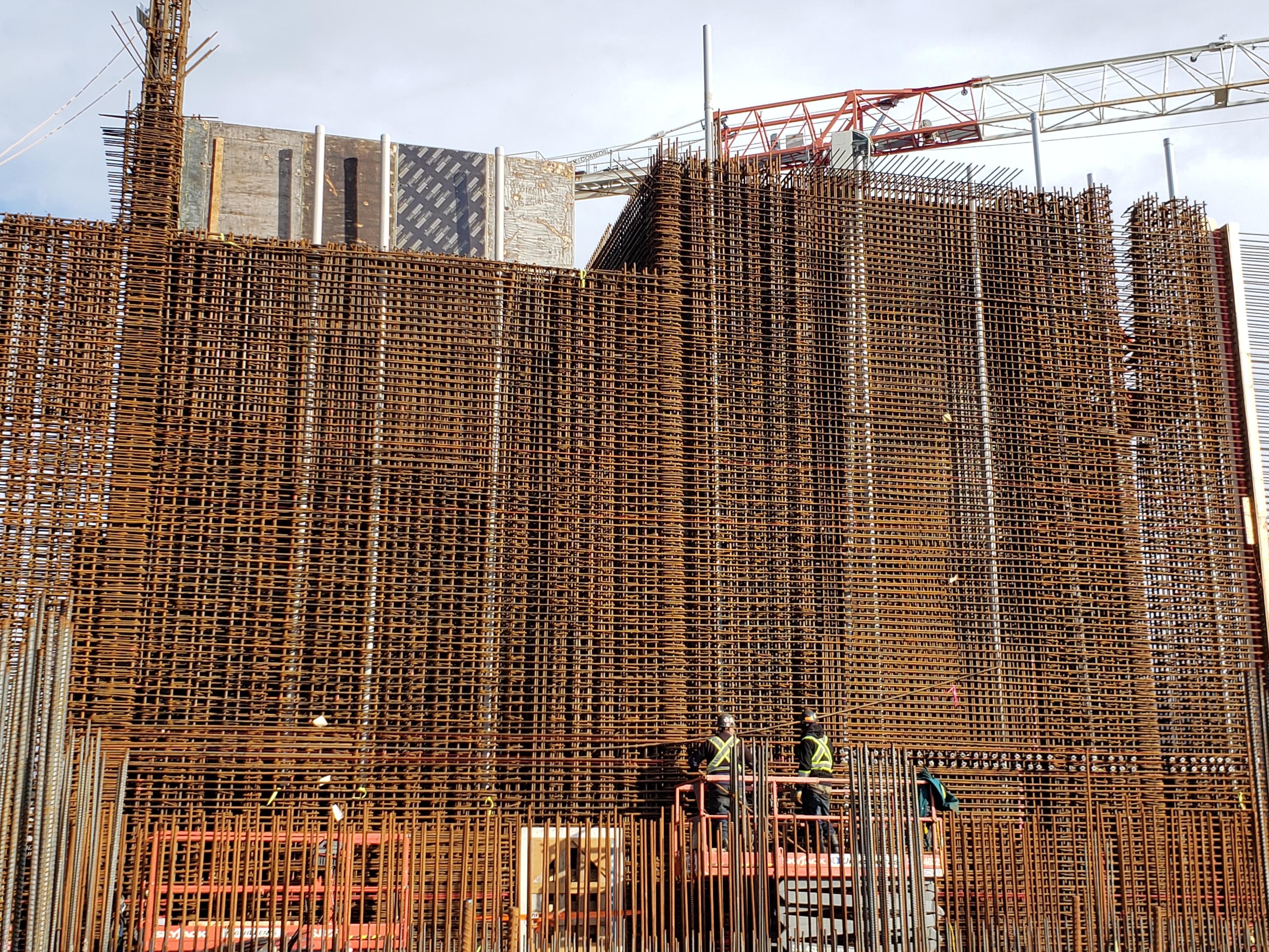 Winter 2021 - Rebar installation